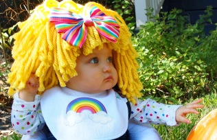 Avery as Rainbow Brite