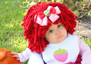 Lily as Strawberry Shortcake