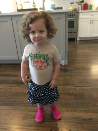 When a 2 year old picks out her own clothes.