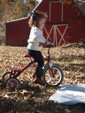 Lily on trike
